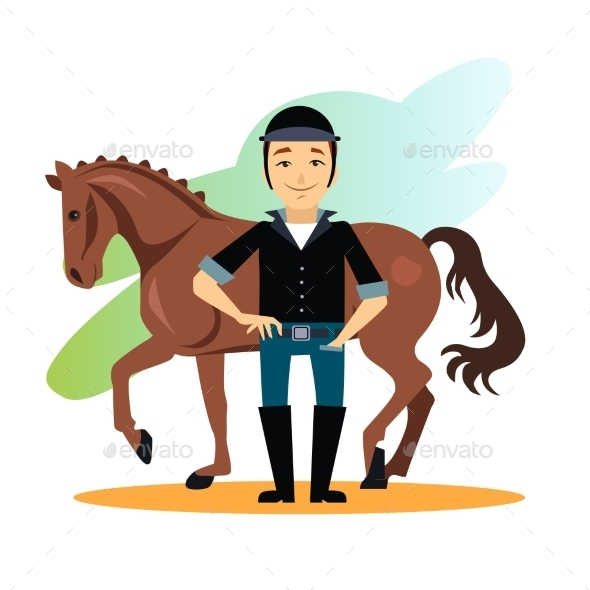 GraphicRiver Jockey Design Concept Set 11884454