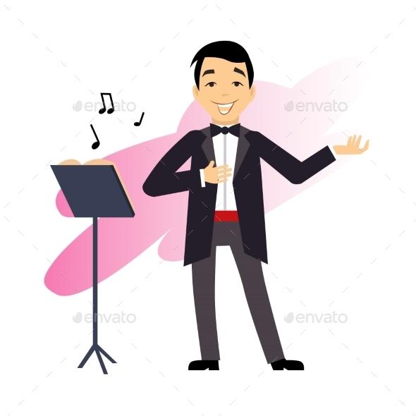 GraphicRiver Male Opera Singer 11884457