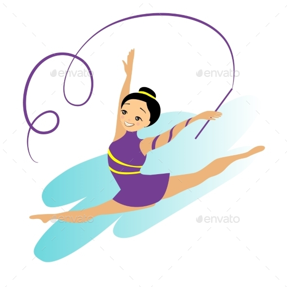 GraphicRiver Sports Women Art Gymnastics Workout Exercise 11884459