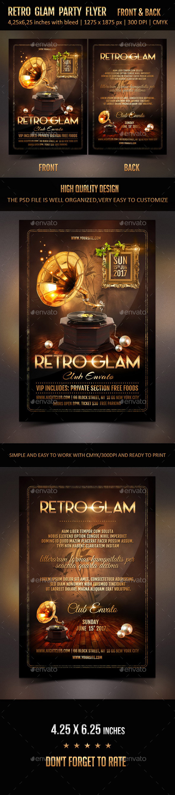 GraphicRiver Retro Glam Party Flyer 11877900