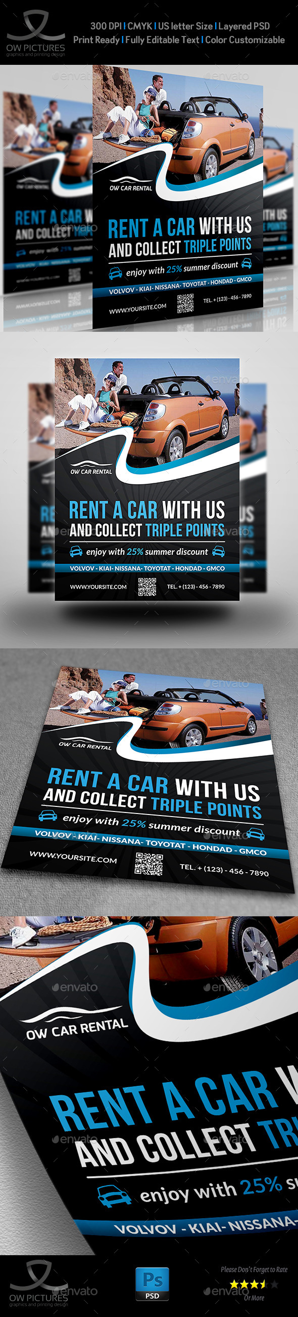 GraphicRiver Rent a Car Flyer Template 11884907