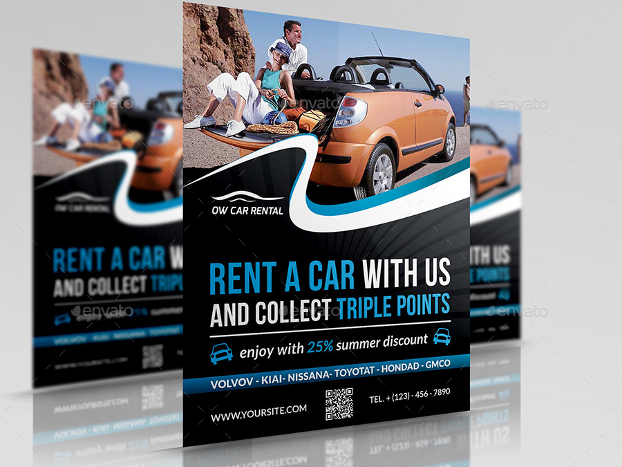 Rent a Car Flyer Template by OWPictures – Car Flyer Template