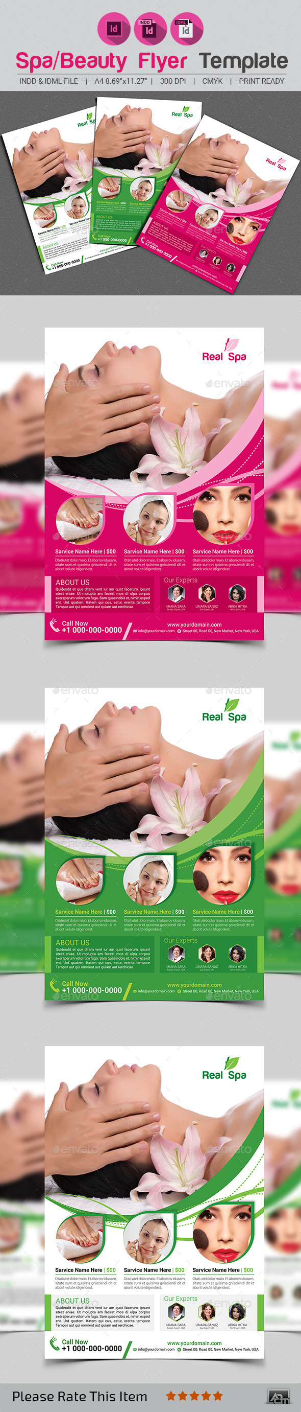 GraphicRiver Spa Beauty Flyer Template 11884909