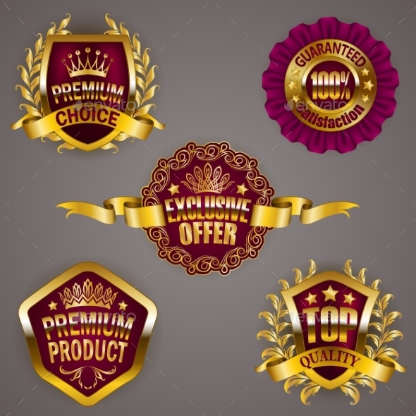 GraphicRiver Golden Badges 11884920