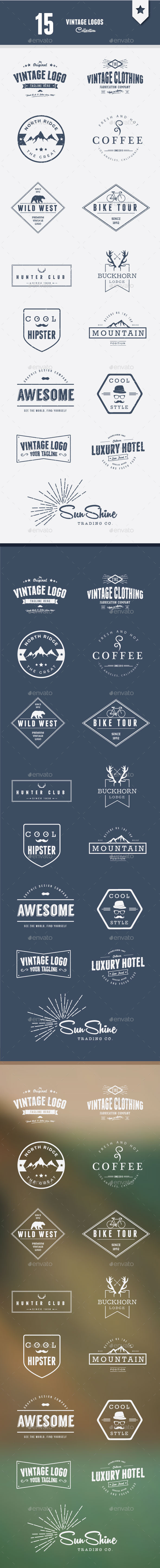 GraphicRiver Vintage Logos Collection 11820423