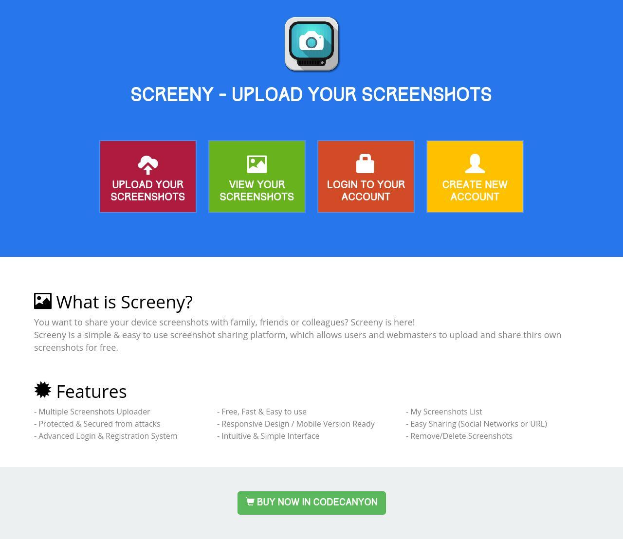 Screeny - Screenshot Sharing Script