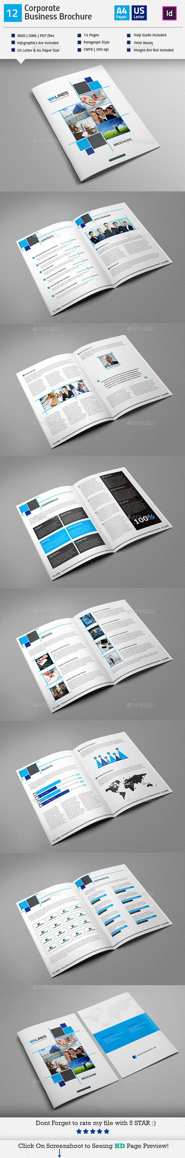 GraphicRiver Multipurpose Business Brochure Indesign V12 11885104