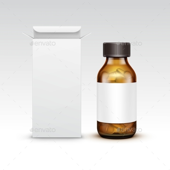 GraphicRiver Blank Medicine Medical Glass Bottle 11885138