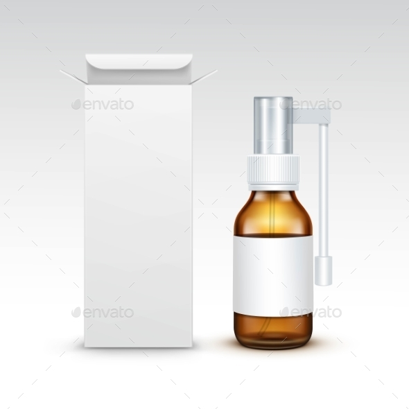 GraphicRiver Blank Medicine Medical Glass Spray Bottle 11885165