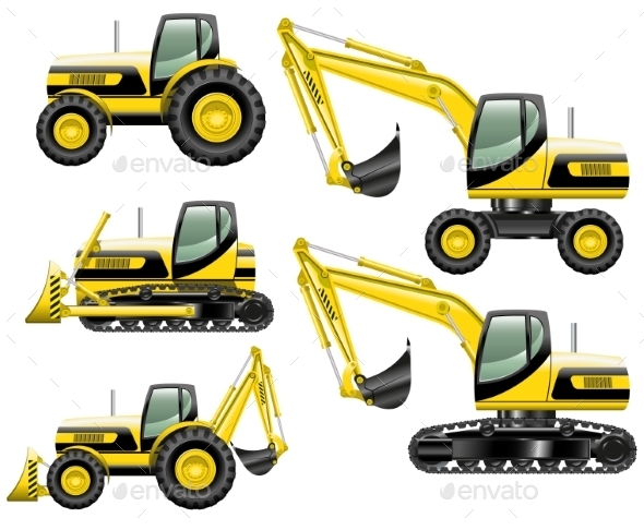 GraphicRiver Construction Machines 11885186