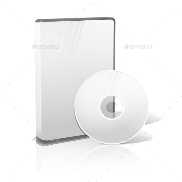 GraphicRiver White Realistic Isolated DVD CD Blue-Ray Case 11885208