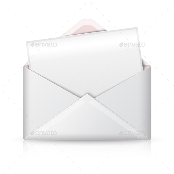 GraphicRiver Blank Realistic Vector White Opened Envelope 11885216