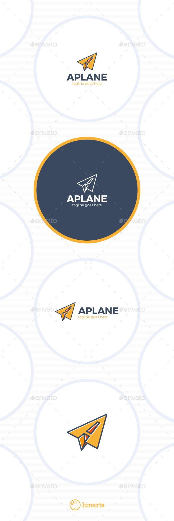 GraphicRiver Paper Plane Logo Letter A 11885324