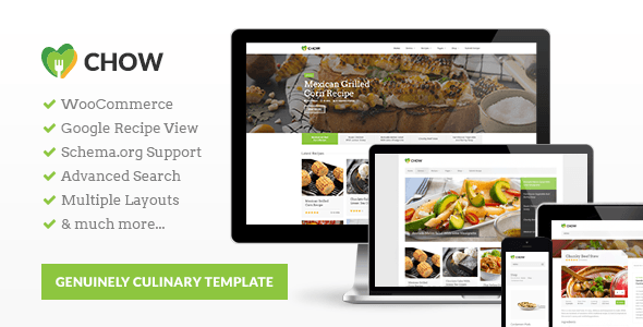Download Chow - Recipe & Food WordPress Theme nulled download