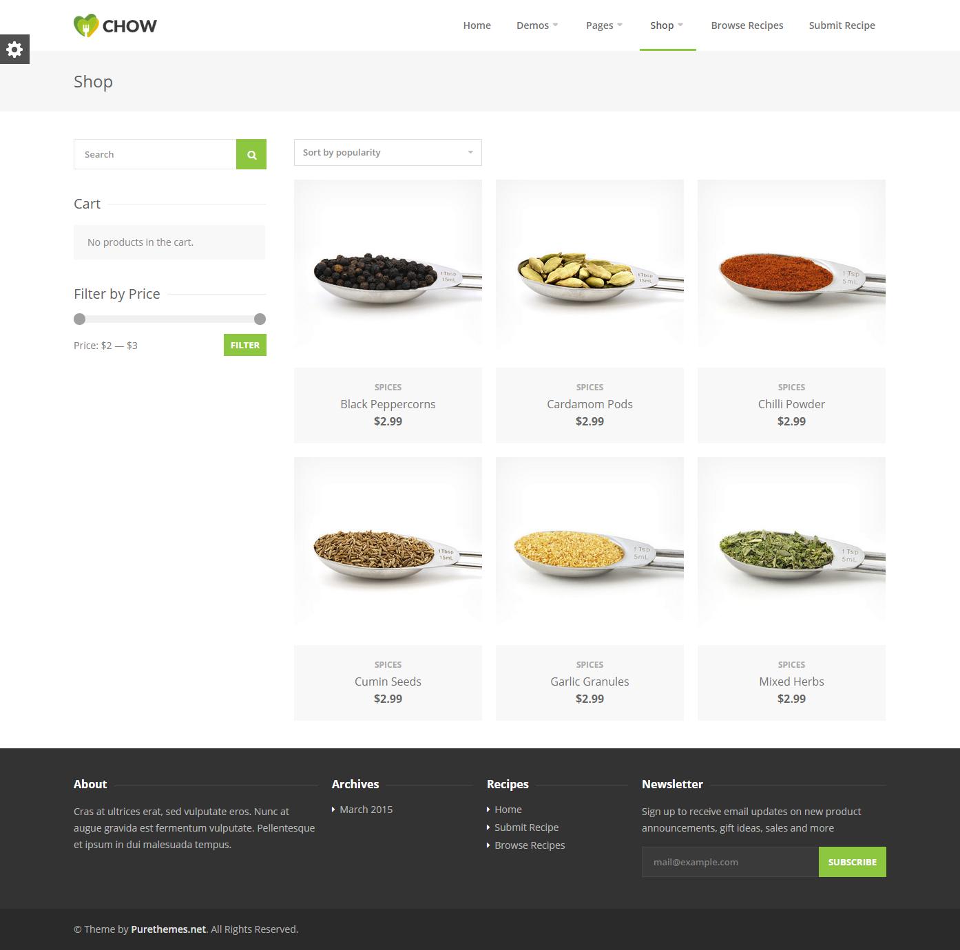 Chow – Recipe & Food WordPress Theme