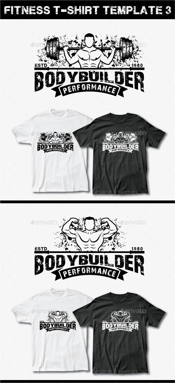 GraphicRiver Fitness T-Shirt Template 3 11885365