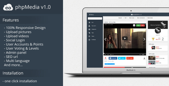phpMedia v1.0 – Social Media Share Script. (Social Networking) Download