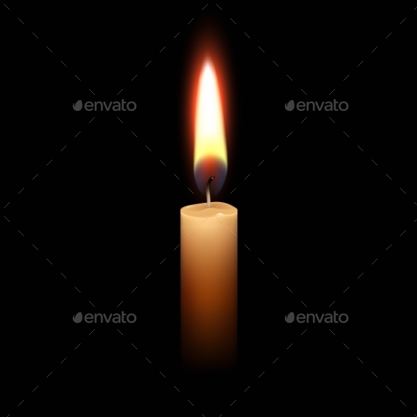 GraphicRiver Candle Flame Fire Light Isolated Background 11885419