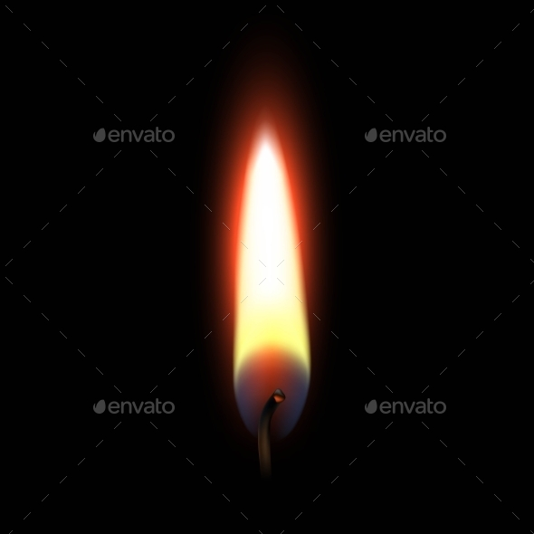 GraphicRiver Fire Flame Isolated On Black Background 11885423