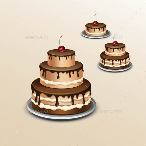GraphicRiver Birthday Cake With Cherry Isolated On Background 11885504