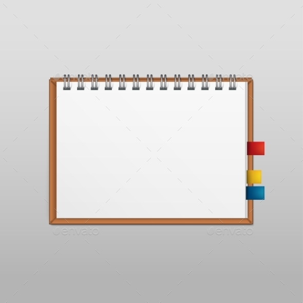 GraphicRiver Vector White Blank Paper Note Notebook Page 11885575