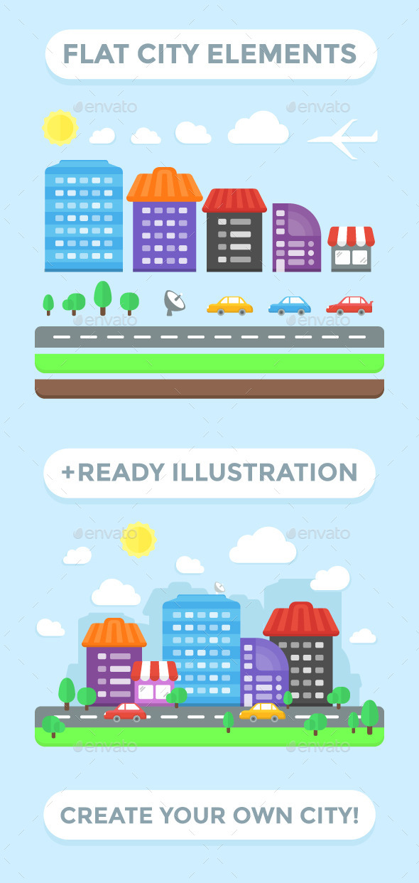 GraphicRiver City Elements and Ready Illustration 11885599