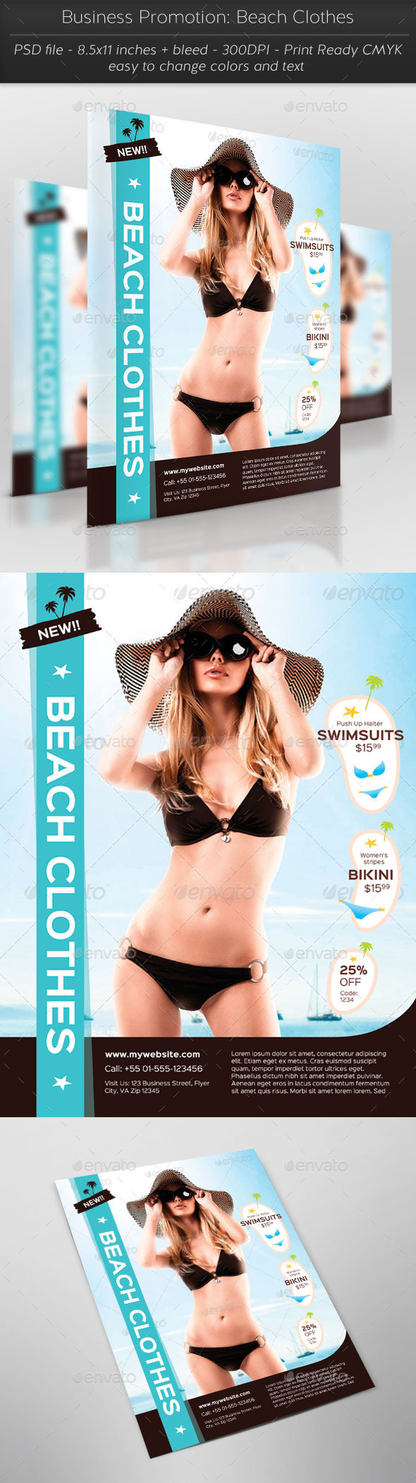 GraphicRiver Business Promotion Beach Clothes 11885637