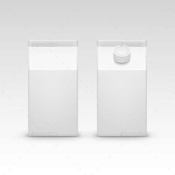 GraphicRiver Milk Juice Carton Packaging Package Box White 11885644