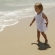Little Cute Girl On The Beach - VideoHive Item for Sale