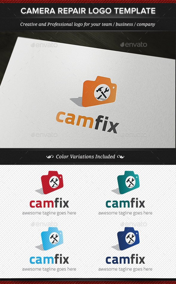 GraphicRiver CamFix Camera Repair Logo Template 11886133