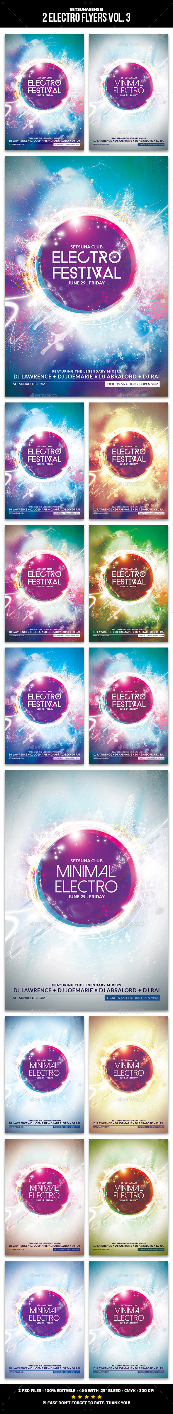 GraphicRiver 2 Electro Flyers Vol 3 11886522