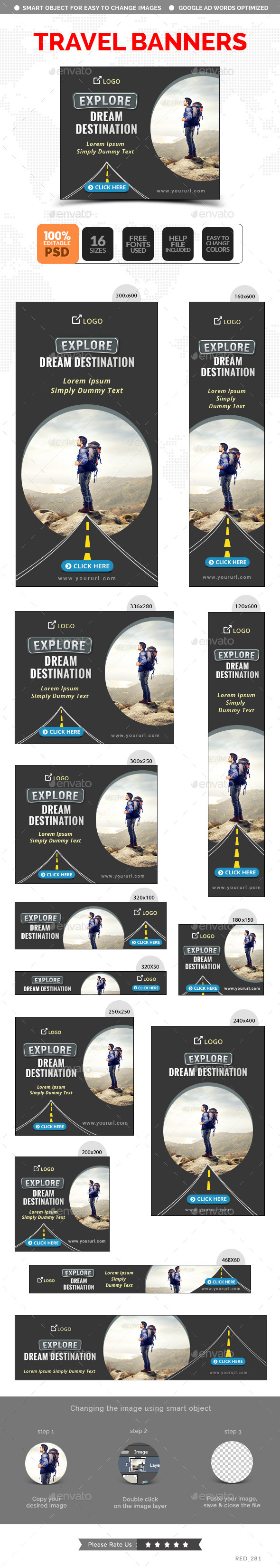 GraphicRiver Travel Banners 11886525