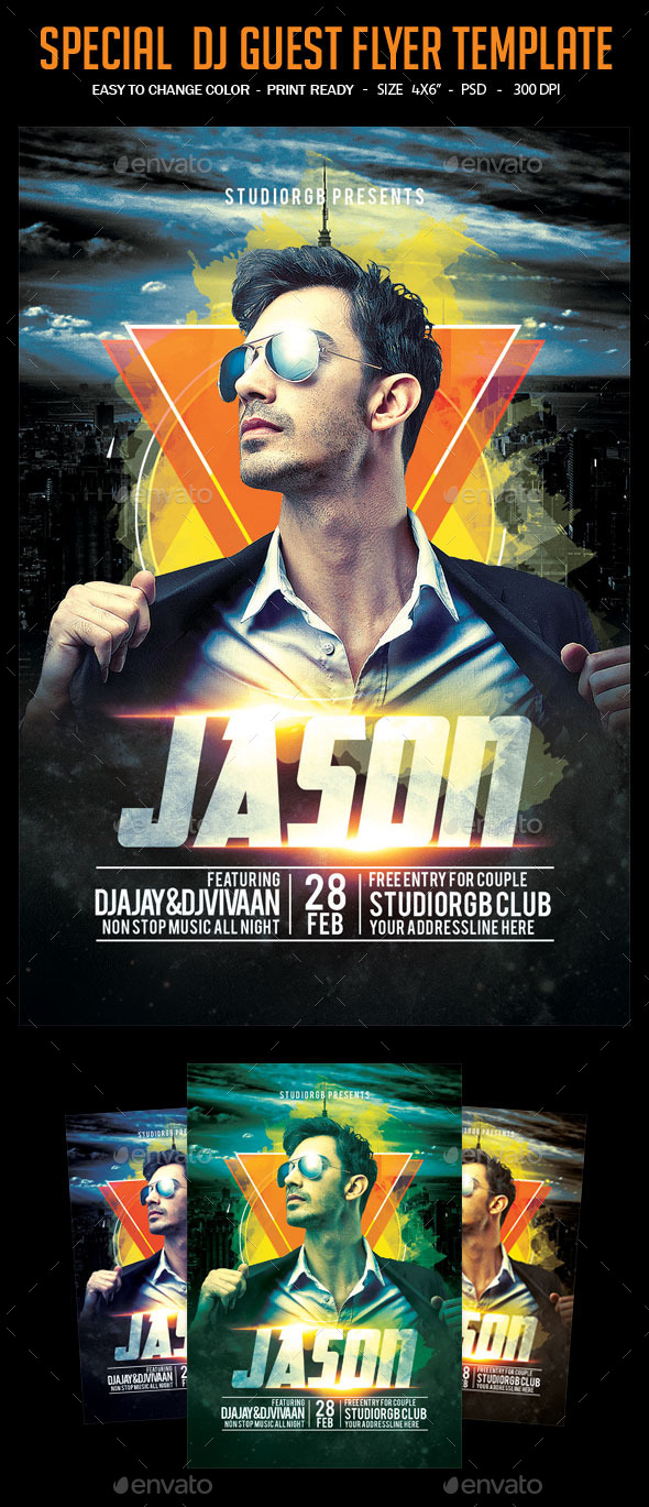 GraphicRiver Special Dj Guest Flyer Template 11886629