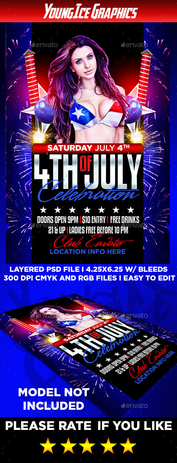 GraphicRiver 4th of July Party Flyer Template 11886648