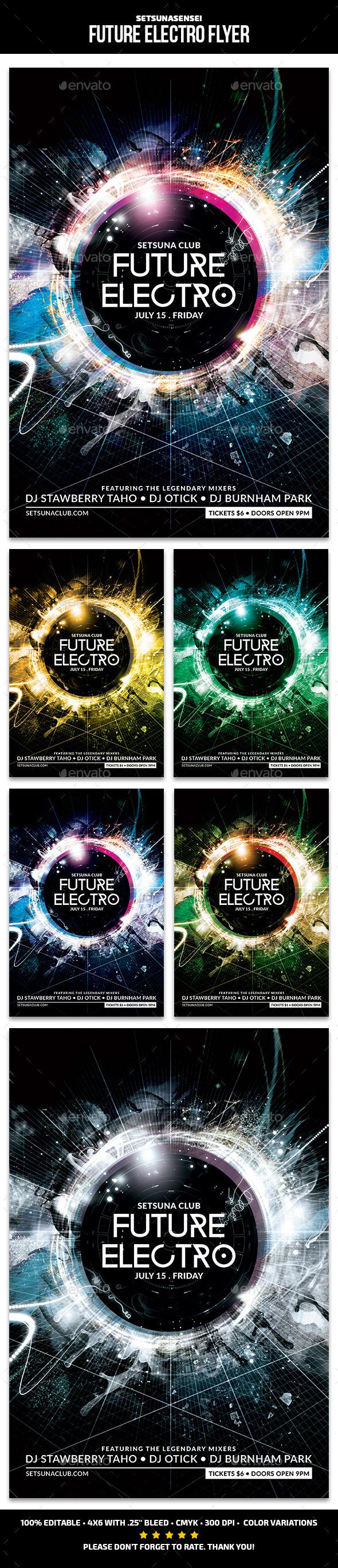 GraphicRiver Future Electro Flyer 11886692