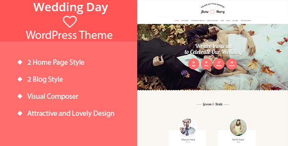 12 - Wedding Day - Wedding WordPress Theme