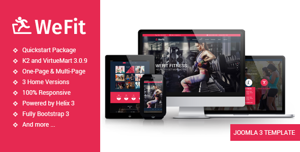 Image of Wefit - Health, Sport, Gyms and Trainers Template