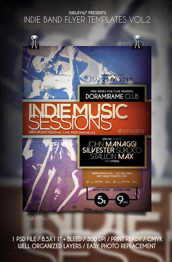 GraphicRiver Indie Band Flyer Templates Vol.2 11886938
