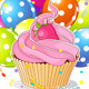 Birthday Cupcake with Balloons - GraphicRiver Item for Sale