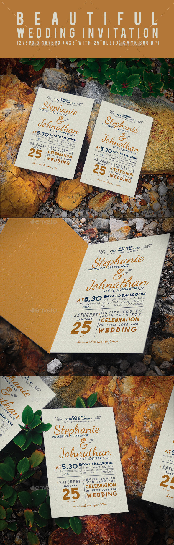 GraphicRiver Beautiful Wedding Invitation 11887306