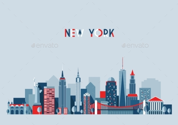 GraphicRiver New York City Architecture Vector Illustration 11887505