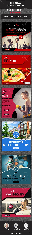 GraphicRiver Multipurpose Instagram Banner 11887514