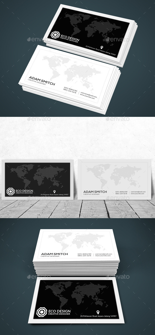 GraphicRiver Simple Clean Business Card 11887890