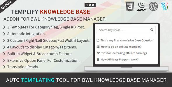 CodeCanyon Templify KB Knowledge Base Addon 11888104