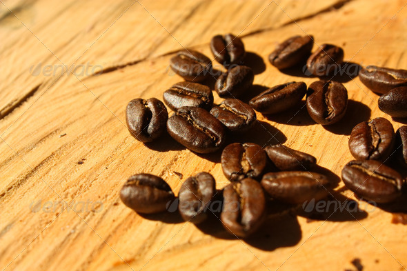 Roasted coffee. Colombia - Stock Photo - Images