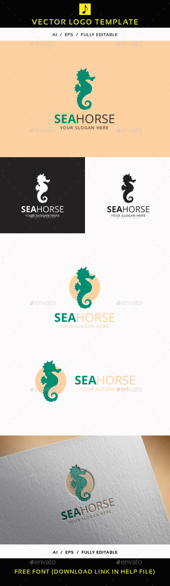 GraphicRiver Sea Horse 11888371