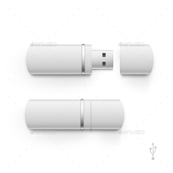 GraphicRiver USB Flash Drive Stick Memory Vector Set Isolated 11888384
