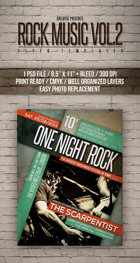 GraphicRiver Rock Music Flyer Templates Vol 2 11888445