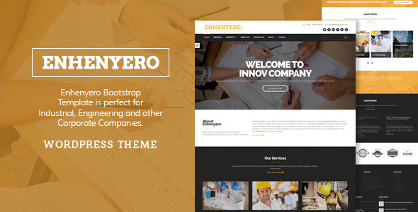 ThemeForest Enhenyero Engineering Industrial WordPress Theme 11720776