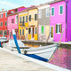 Colorful houses in Burano, Italy. - PhotoDune Item for Sale